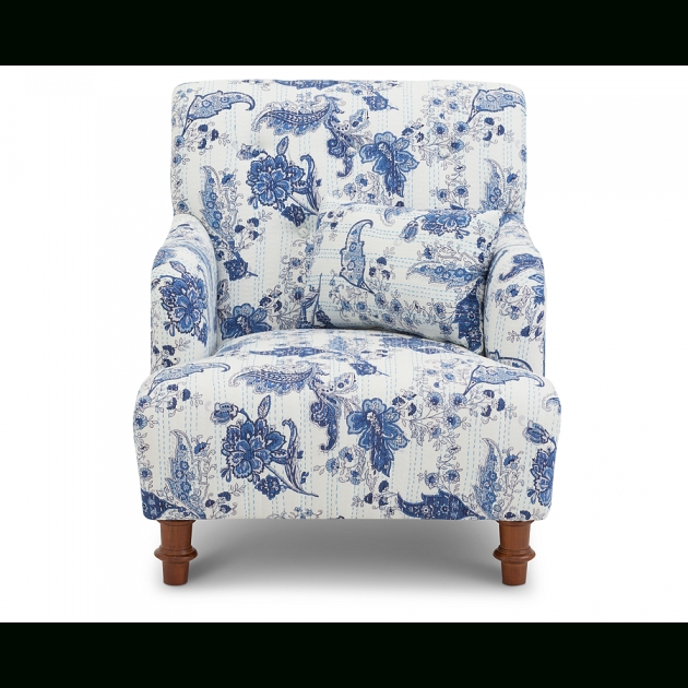 Astonishing Blue And White Accent Chair Image