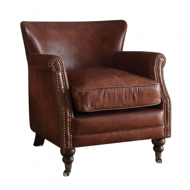 Astonishing Leather Accent Chairs With Arms Photos
