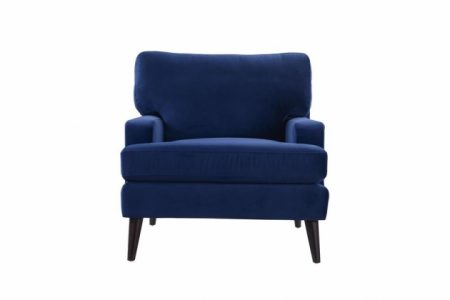 Navy And White Accent Chair