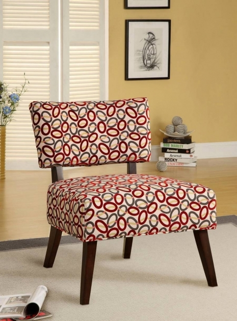 Astonishing Red Pattern Accent Chair Pics