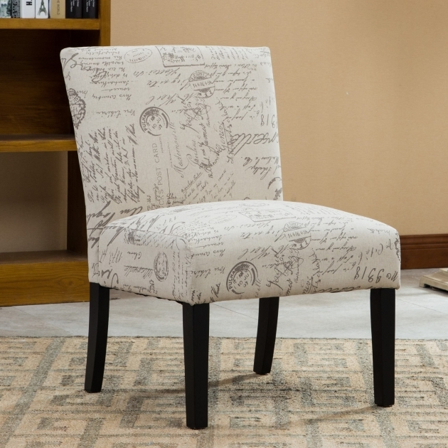 Attractive Armless Accent Chair Slipcover Photo