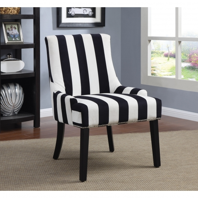 Attractive Black And White Accent Chairs Images
