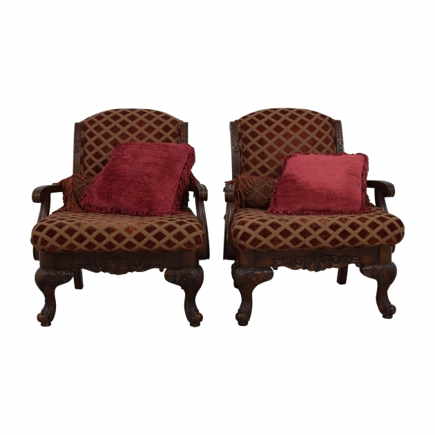Attractive Burgundy Accent Chair Pics