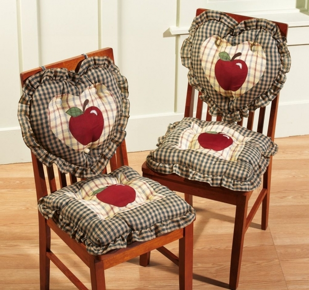 Attractive Country Kitchen Chair Cushions Pic