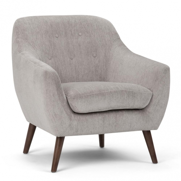 Attractive Grey Accent Chair With Arms Picture
