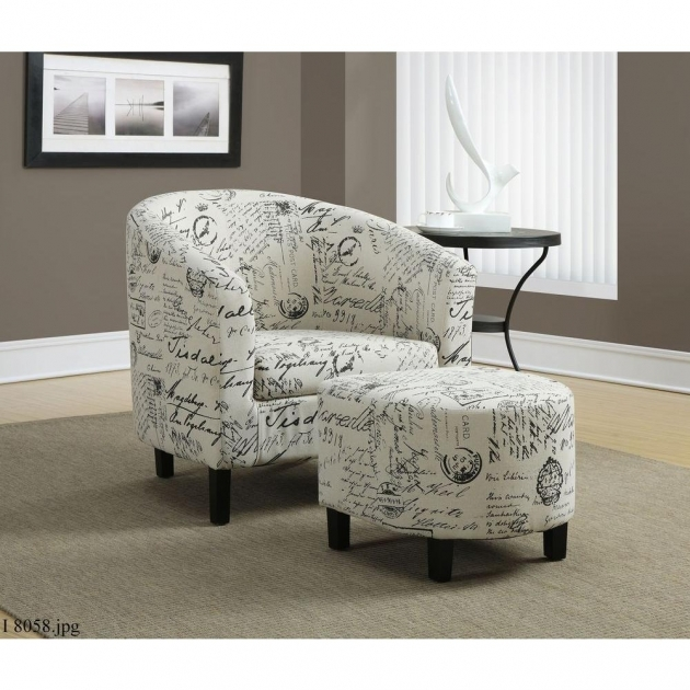 Attractive Grey Patterned Accent Chair Images