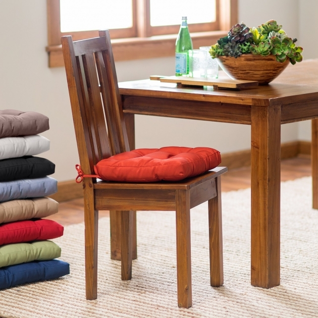 Attractive Kitchen Chair Pads With Ties Pictures