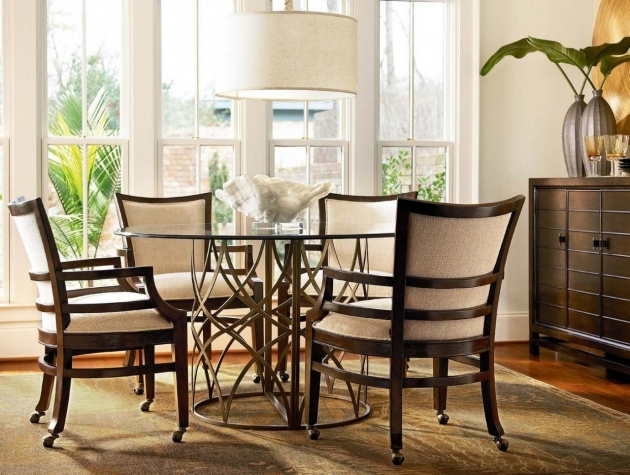 Attractive Kitchen Table And Chairs With Wheels Images
