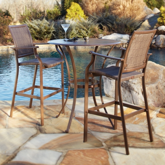 Attractive Patio Tall Table And Chairs Pictures