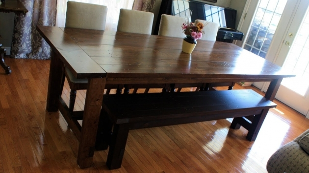 Awesome Kitchen Table With Bench Seating And Chairs Pictures