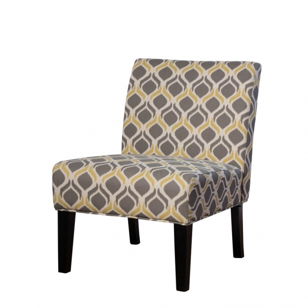 Awesome Yellow And Gray Accent Chair Pic