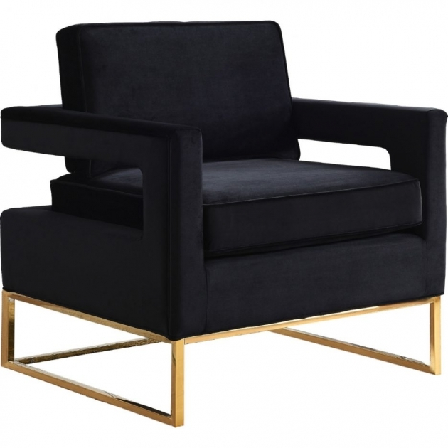 Best Black And Gold Accent Chair Images