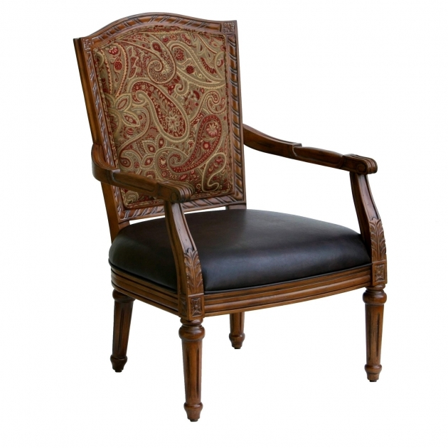 Classy Accent Chairs With Wood Arms Pics