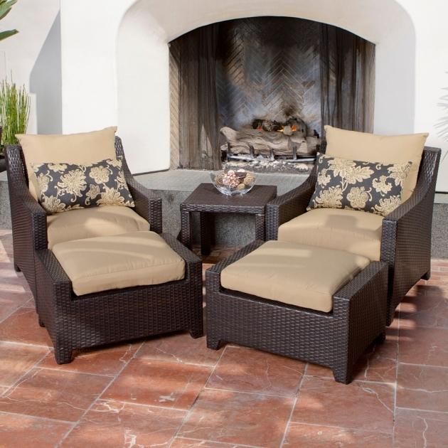 Classy Patio Chairs With Ottomans Photos
