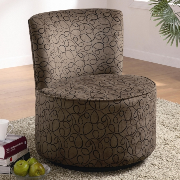 Classy Round Swivel Accent Chair Pictures