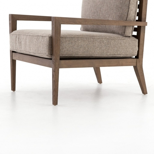Classy Wood Frame Accent Chairs Picture