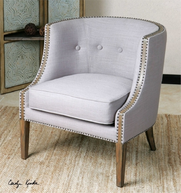 Contemporary Light Gray Accent Chairs Photo