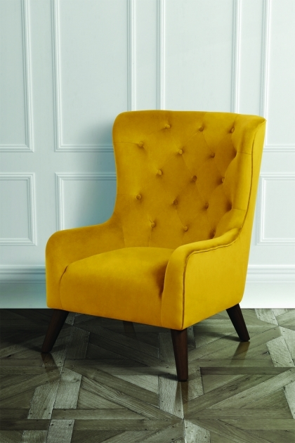 Contemporary Mustard Yellow Accent Chair Picture
