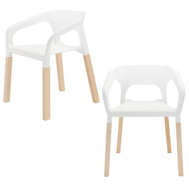 Contemporary Wood Leg White Accent Chairs Ideas