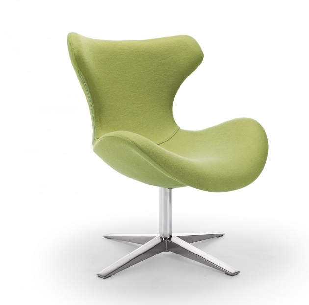Elegant Lime Green Accent Chair Image