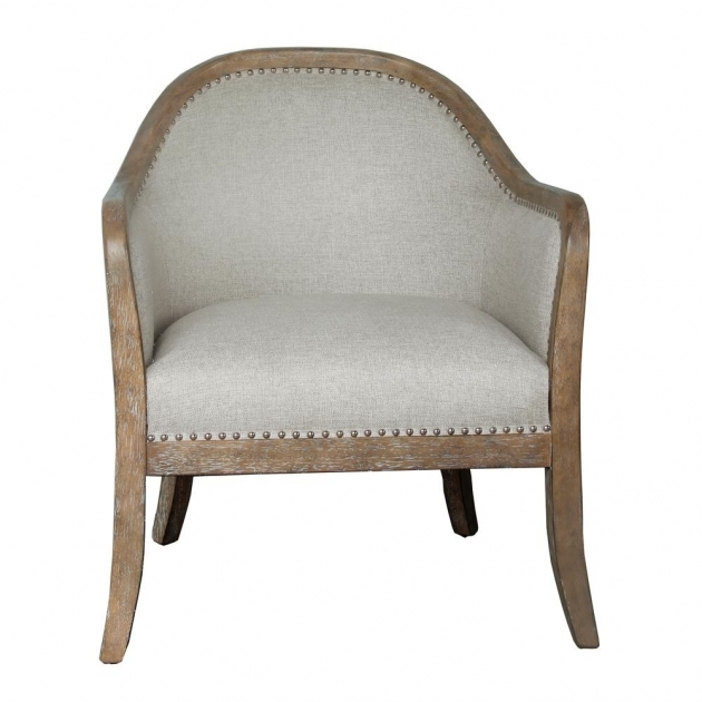 Elegant Wood Frame Accent Chairs Picture