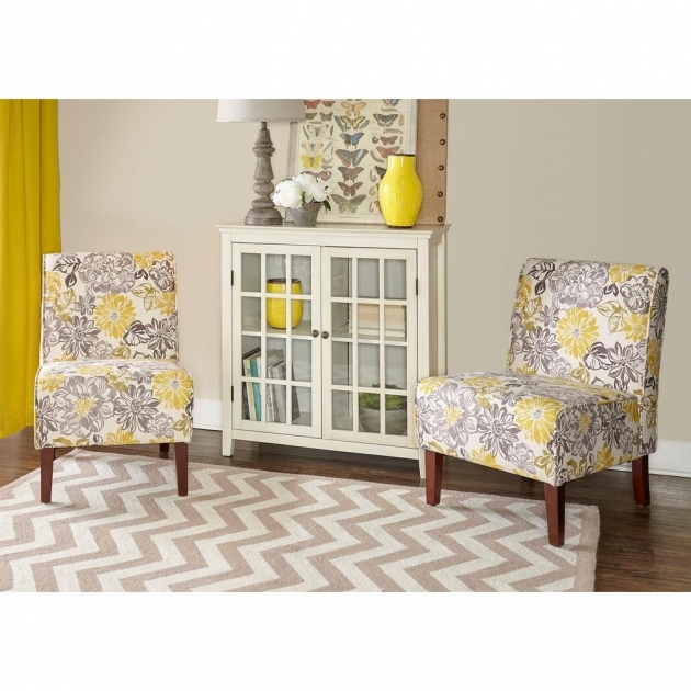 Fantastic Gray And Yellow Accent Chair Photo