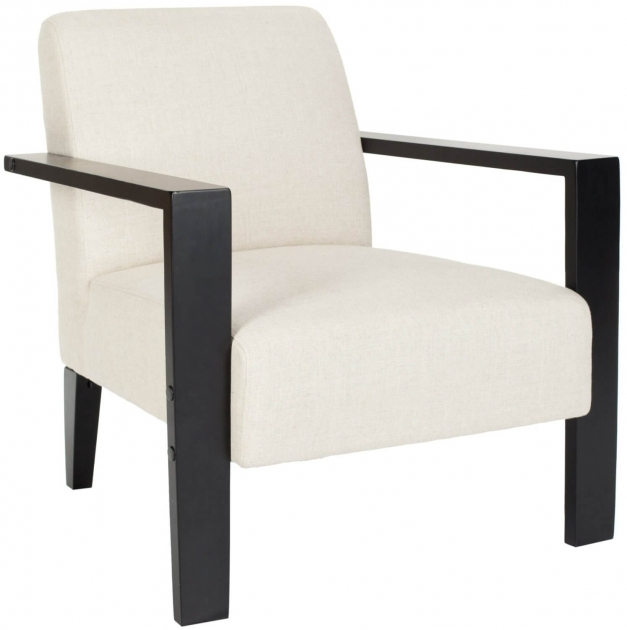 Fantastic Wood Leg White Accent Chairs Image