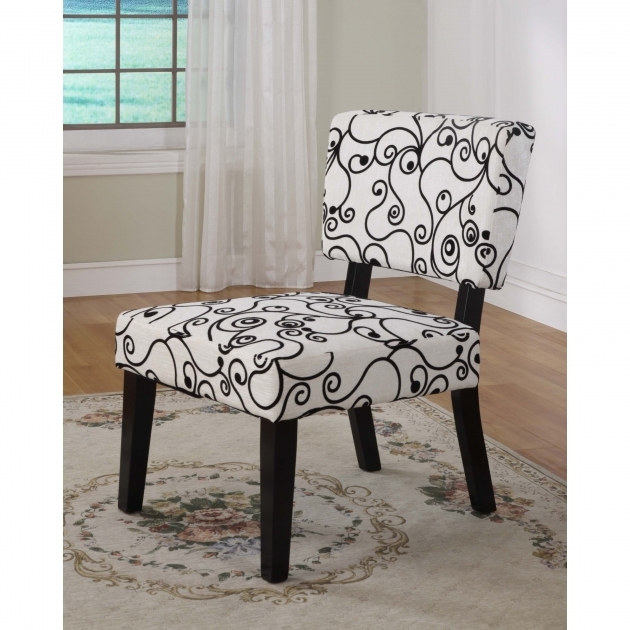 Fascinating Black And White Accent Chairs Image