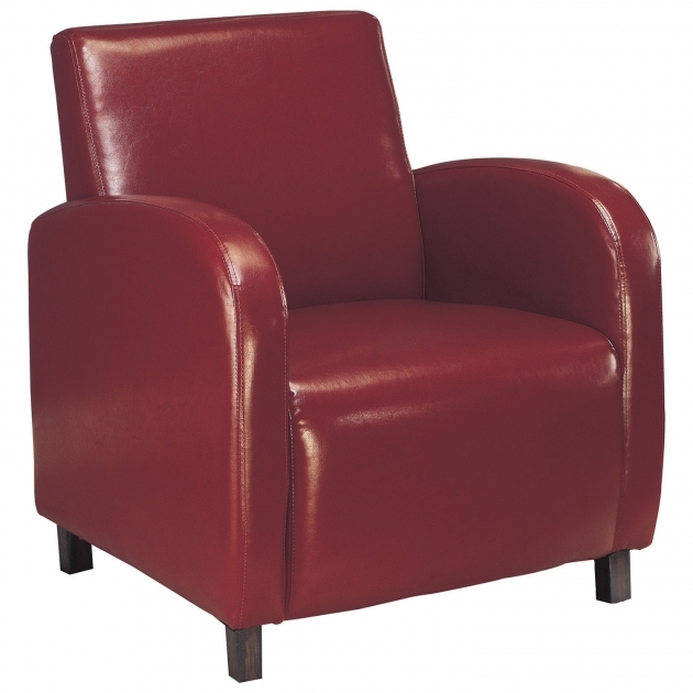 Fascinating Burgundy Accent Chair Pic