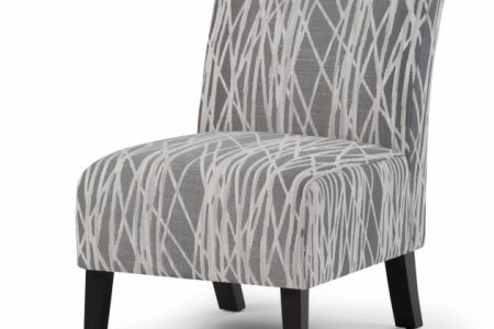 Grey Patterned Accent Chair