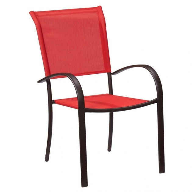 Fascinating Stackable Sling Patio Chairs Images