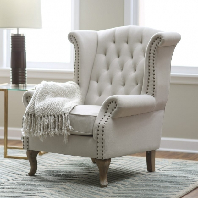 Fresh Light Pink Accent Chair Photo