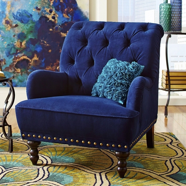 Fresh Royal Blue Accent Chair Image