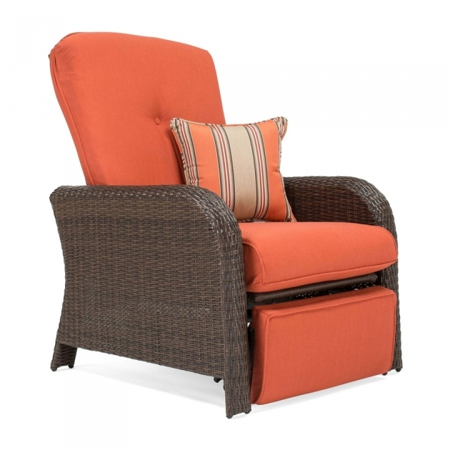 Good Wicker Reclining Patio Chair Image