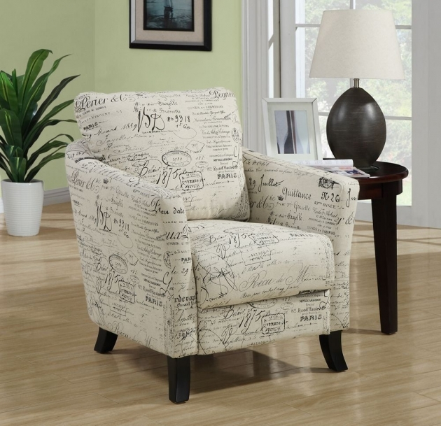 Gorgeous Accent Chair With Writing On It Pics