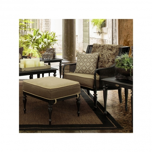 Gorgeous Patio Chair With Ottoman Set Image