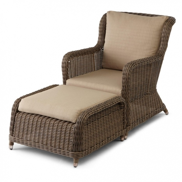 Gorgeous Patio Chair With Ottoman Set Pic