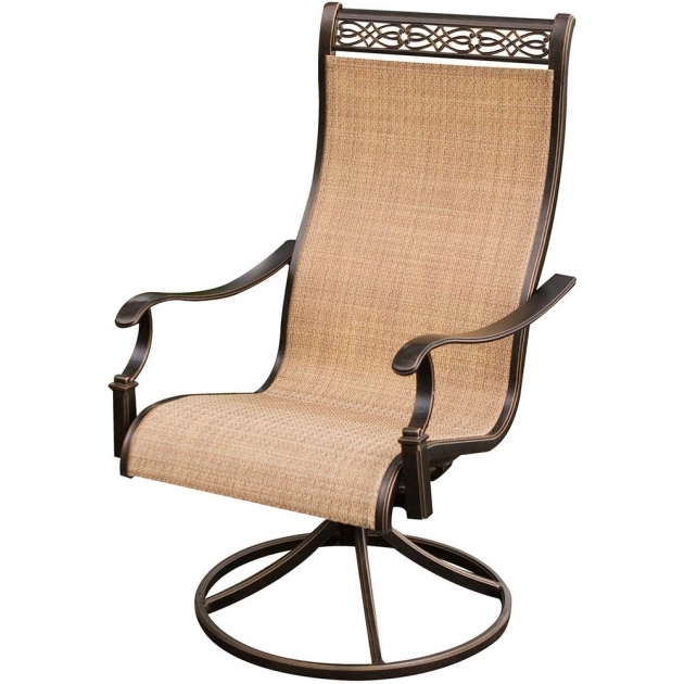 Gorgeous Sling Swivel Rocker Patio Chairs Photo