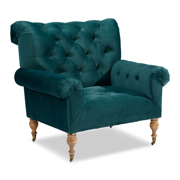 Great Peacock Blue Accent Chair Photo