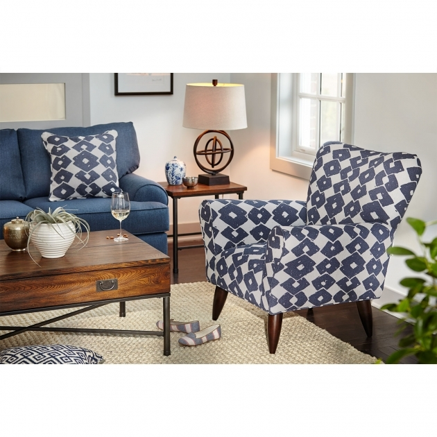 Incredible Blue And White Accent Chair Pics