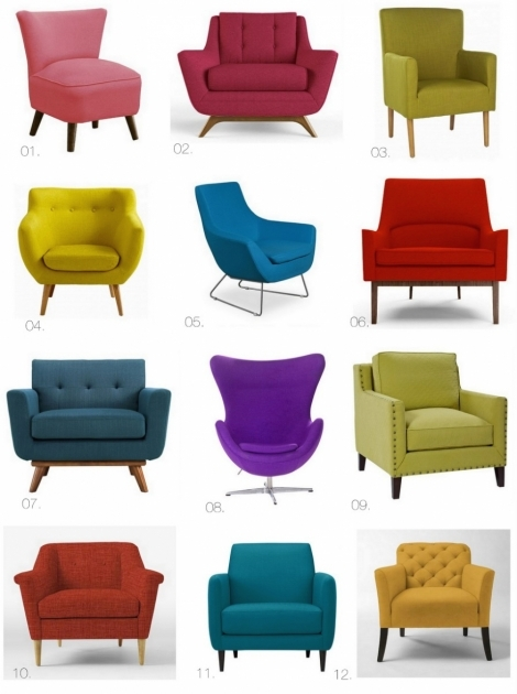 Incredible Bright Accent Chairs Ideas
