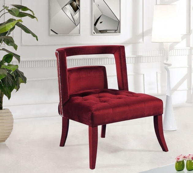 Inspiring Burgundy Accent Chair Image