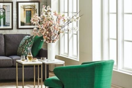 Emerald Green Accent Chair