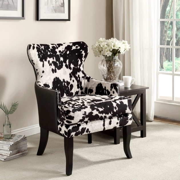 Interesting Cowhide Accent Chair Pics