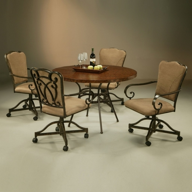 Interesting Kitchen Chairs On Casters Image