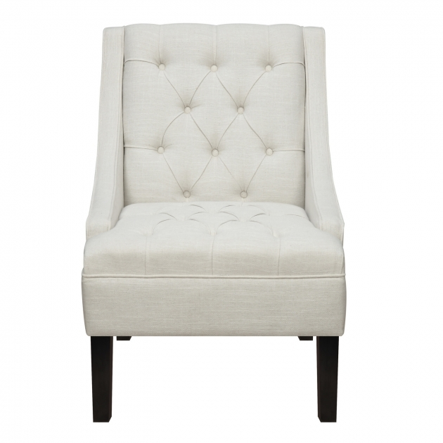 Interesting White Tufted Accent Chair Picture
