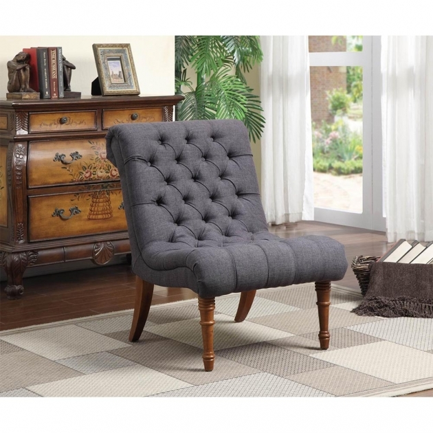 Luxurious Grey Accent Chair With Arms Photos