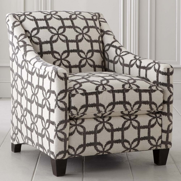 Luxurious Grey Patterned Accent Chair Image