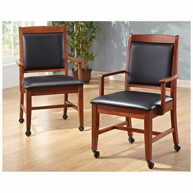 Luxurious Kitchen Chairs On Casters Pictures