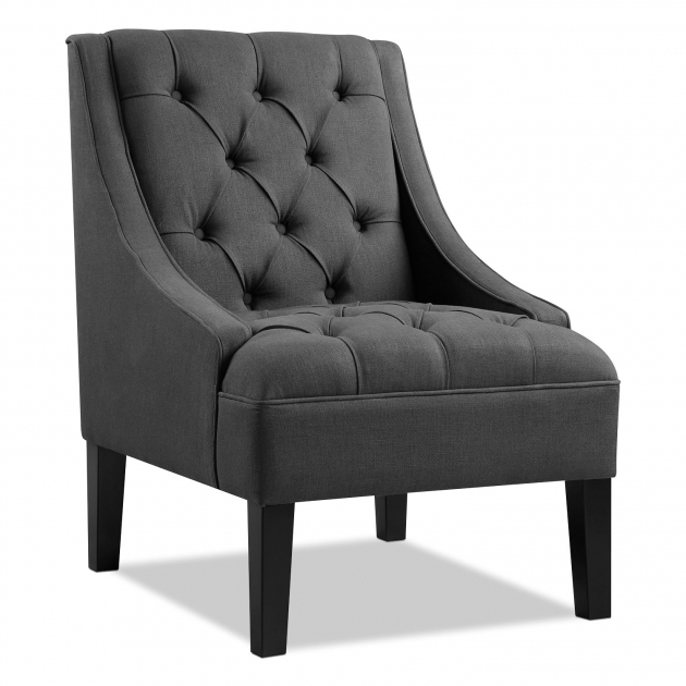 Luxury Grey Accent Chair With Arms Image